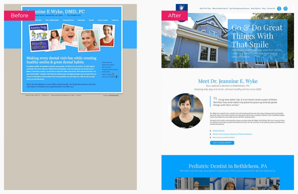 Dental Website Design Case Study Jeannine E Wyke