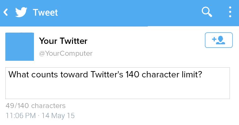 twitter 140 character   Online marketing