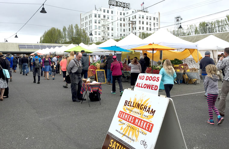 More reasons to visit Bellingham can be found at the downtown farmers market.