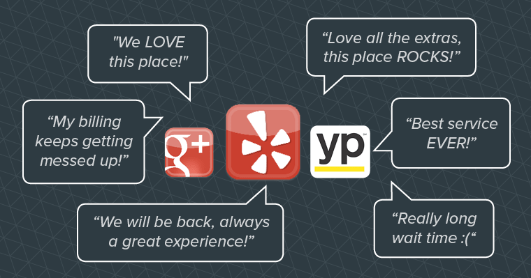 Responding to reviews on Google, Yelp, and other sites can improve your online reputation.