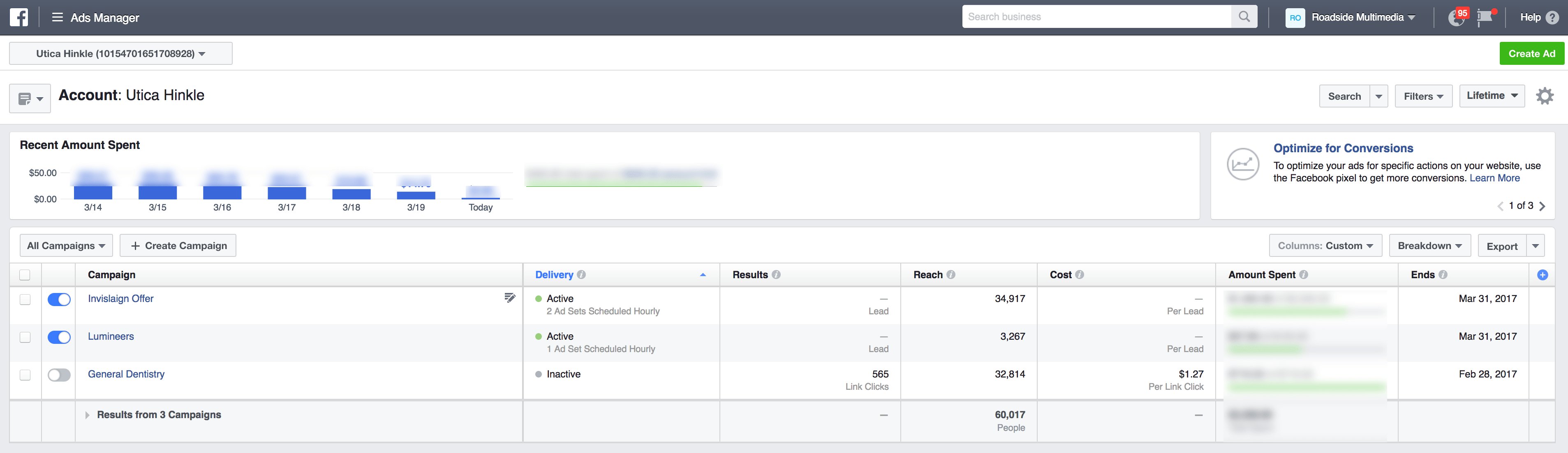 Use Facebook Ad Manager to manage your dental social media campaign