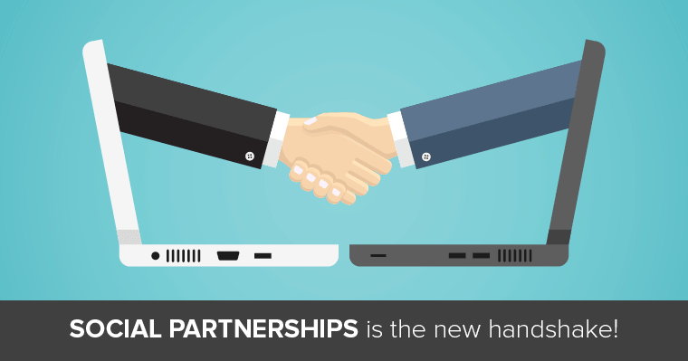 Create relationships with businesses with social partnerships