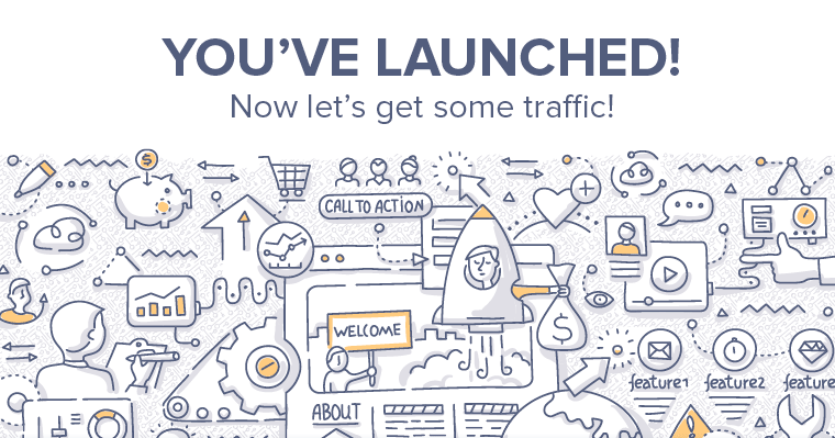 Learn how to promote your new website after it launches