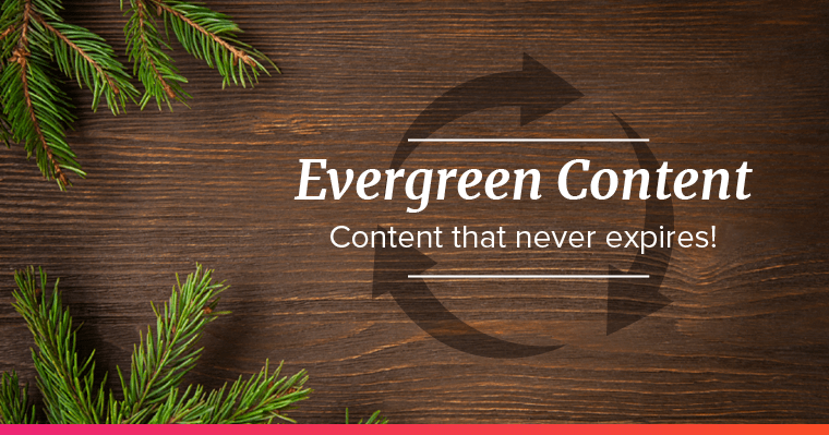Evergreen trees and recycle symbol to represent evergreen content