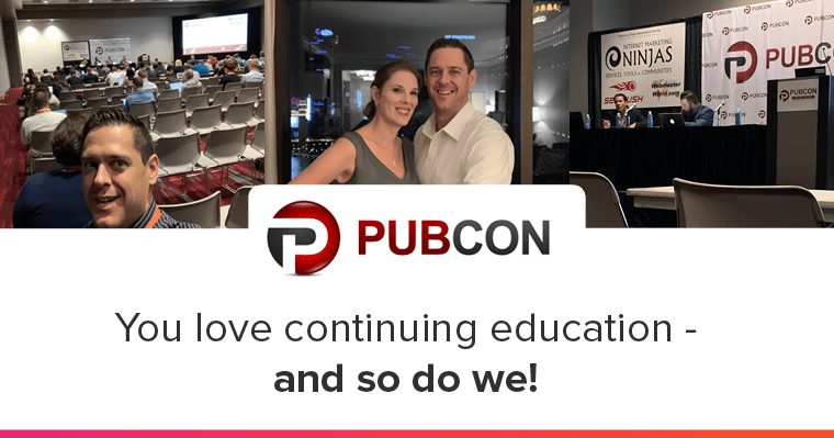 Collage of Kelsey going to the Pubcon SEO Conference in Las Vegas