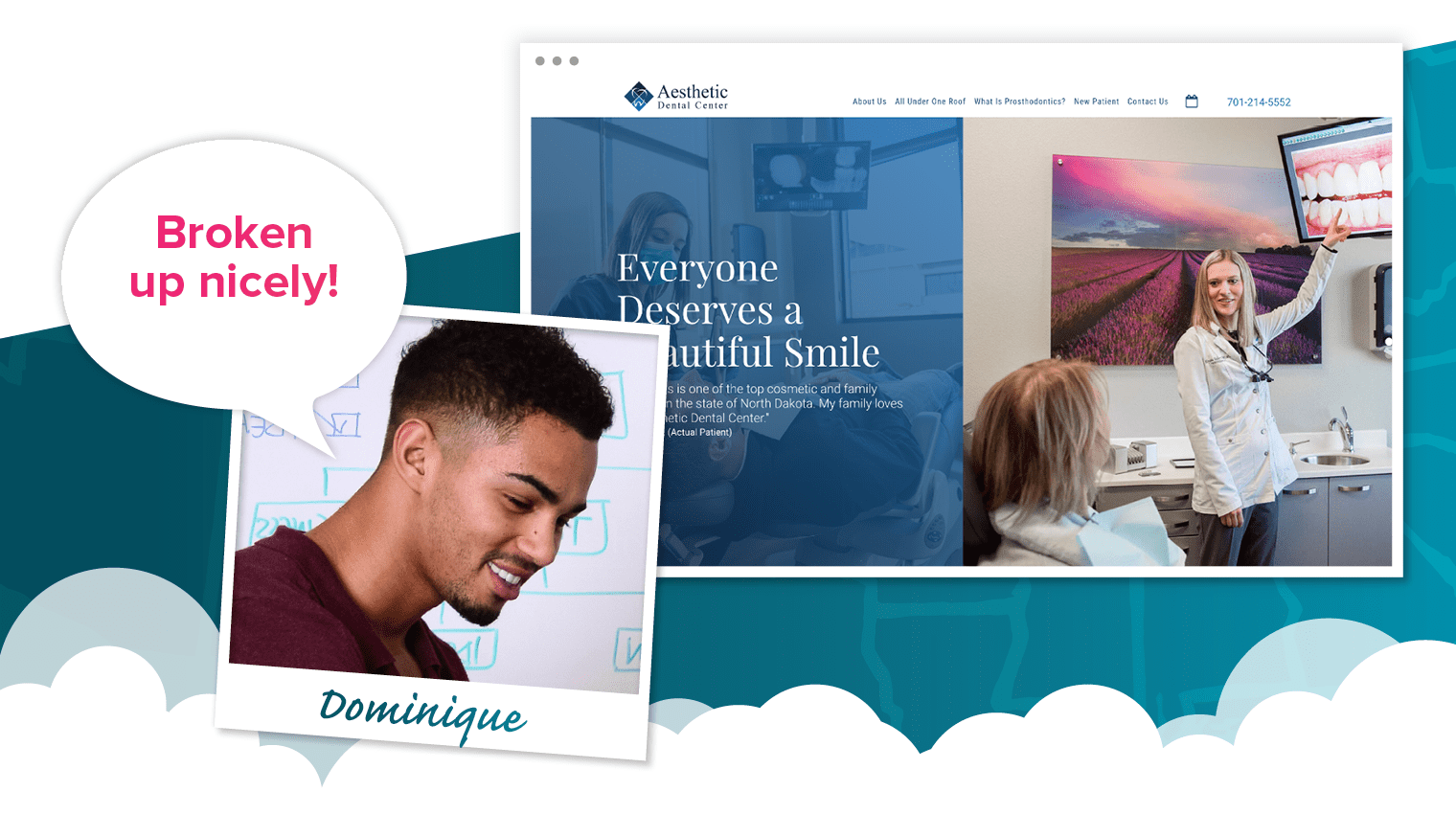 Aesthetic Dental Center, Dominique's fave dental website of the year