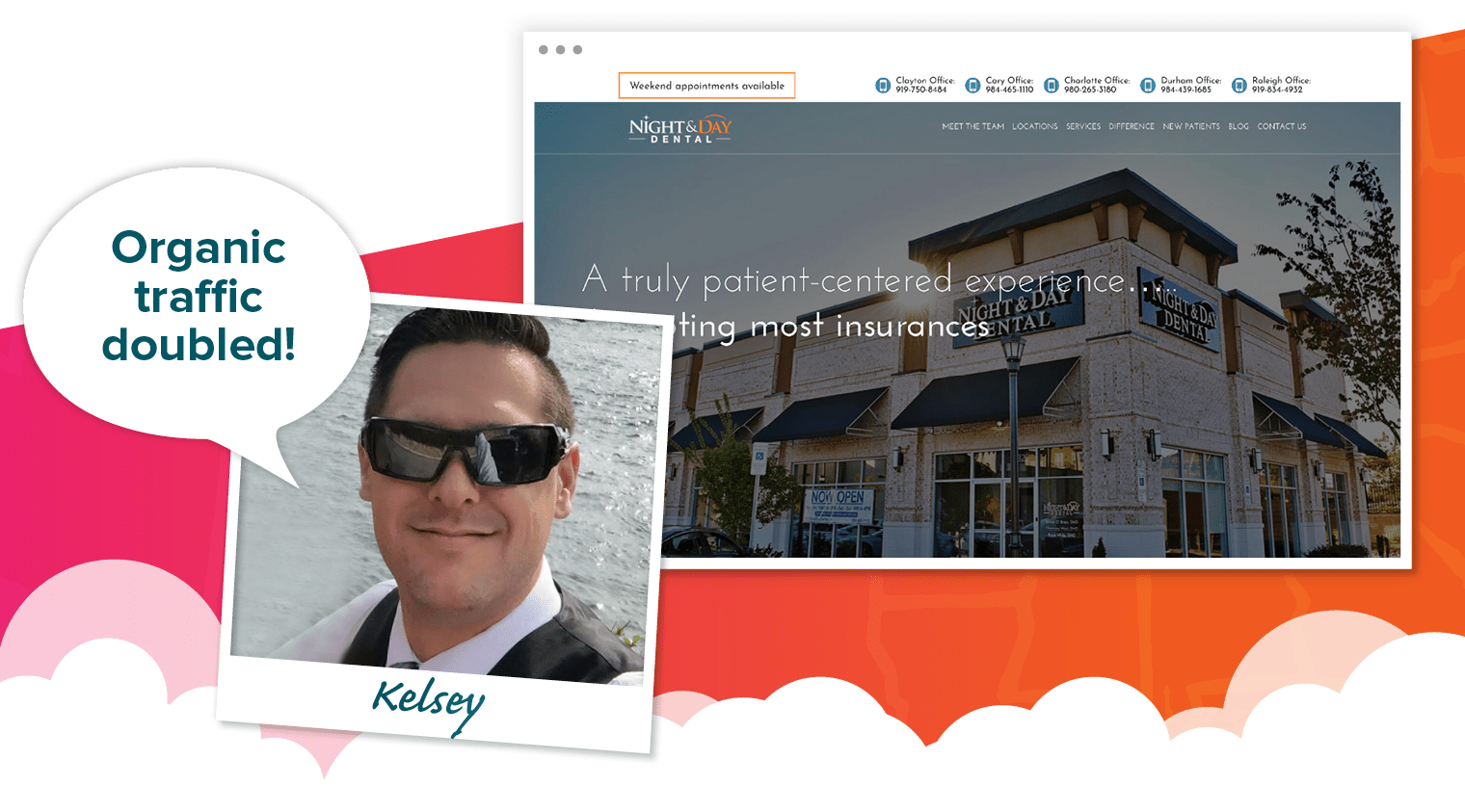 Kelsey's choice for best dental website of 2018 - Night and Day Dental