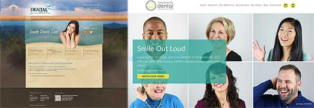 Simpsonville Dental Screen Shot Before & After