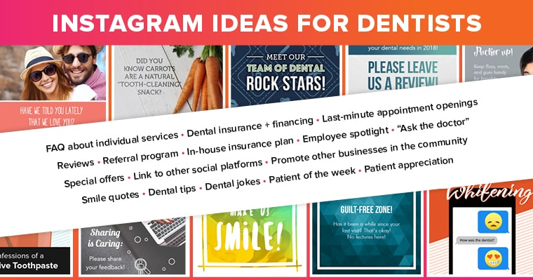 Instagram ideas for dentists
