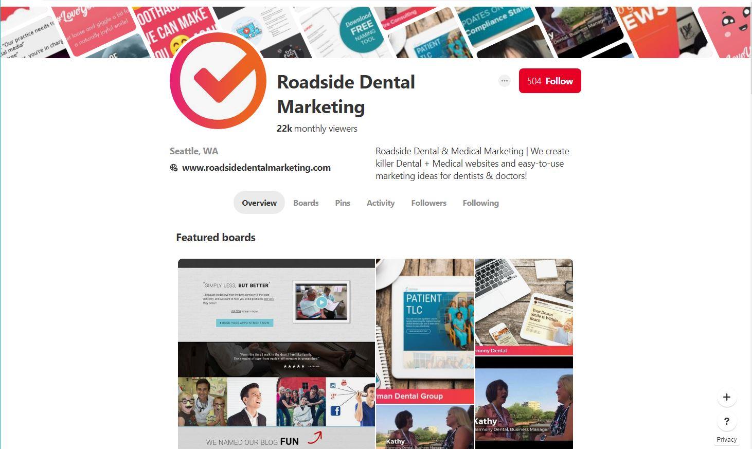 Roadside's Pinterest page