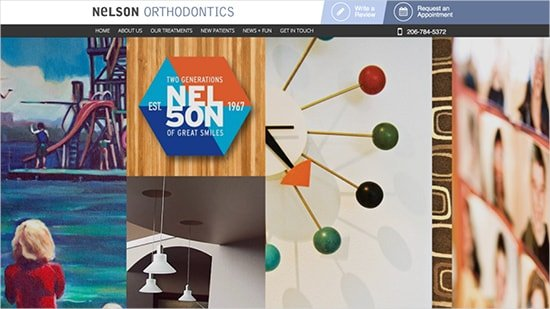 Preview image of Nelson Orthodontics' new responsive orthodontic website.