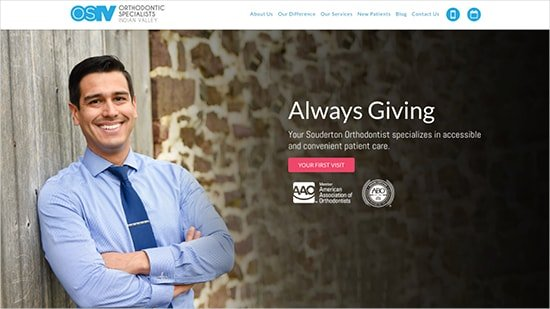Preview image of Orthodontic Specialists - Indian Valley's new responsive orthodontic website.