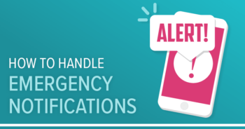 How to handle emergency notifications