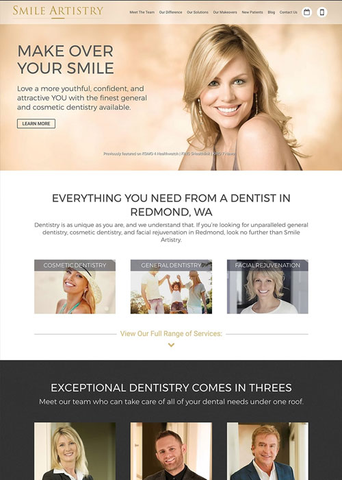 after new responsive smile artistry