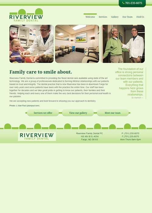 Before Arch Dental's new responsive website was built
