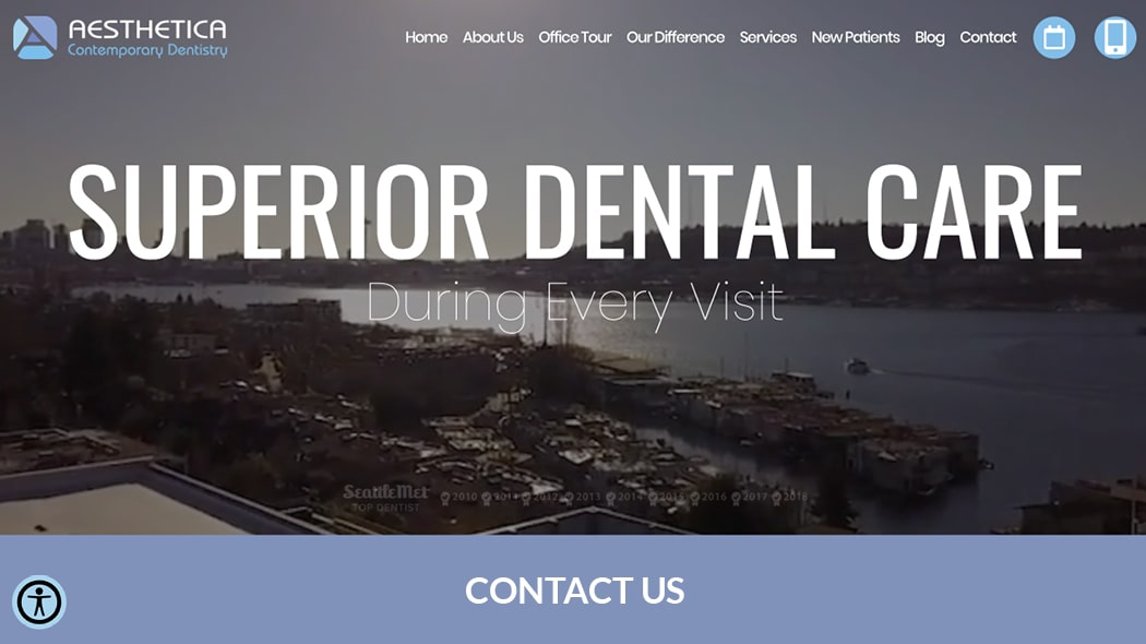 Preview image of Aesthetica Contemporary Dentistry's new responsive dental website.
