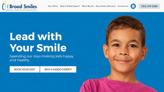Preview image of Broad Smiles DPO's new responsive dental website.