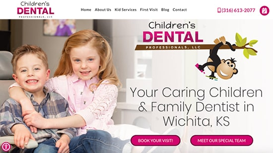 A popular example in our portfolio: Children's Dental Professionals' new responsive dental website.