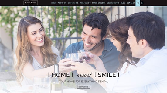 Preview shot of The Dental Market's new responsive website.