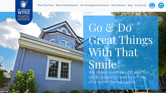 Preview image of Dr. Jeannine Wyke's new responsive dental website.