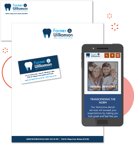 An example of the printwork and website available with our dental branding services