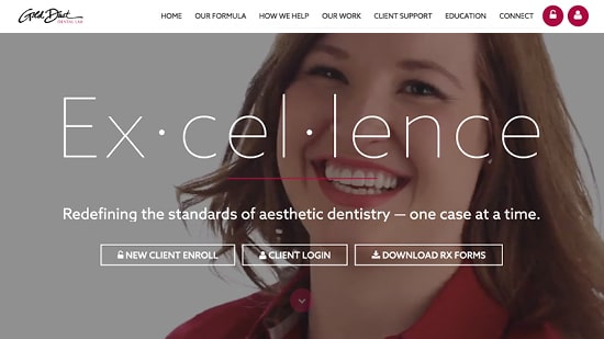 Preview image of Gold Dust Dental Lab's new responsive dental lab website.