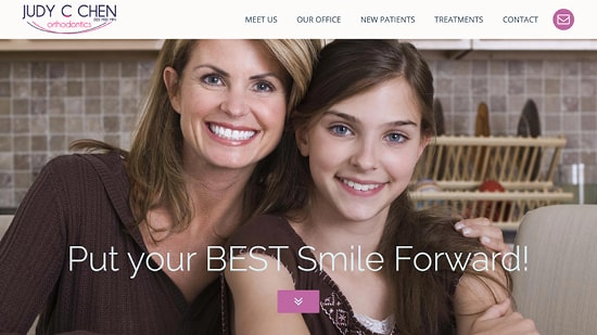 Preview image of Judy C Chen Orthodontics' new responsive dental website.
