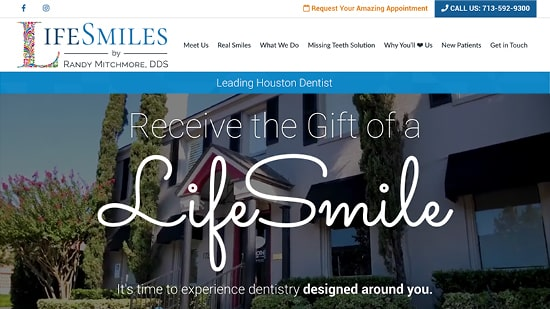 Preview image of LifeSmiles' new responsive dental website.