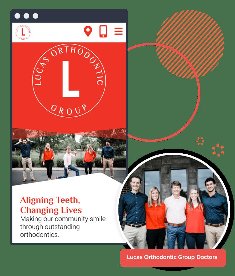 Sample of the Lucas Orthodontics website on mobile