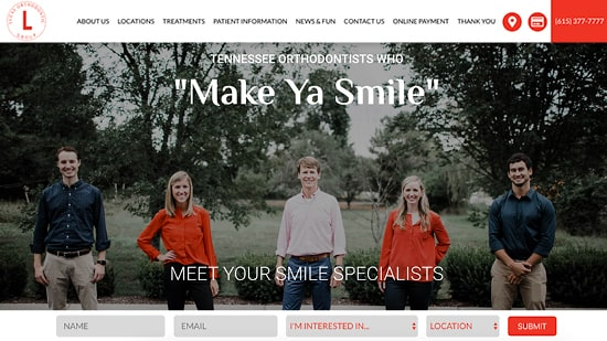 Preview image of Lucas Orthodontic Group's new responsive dental website.