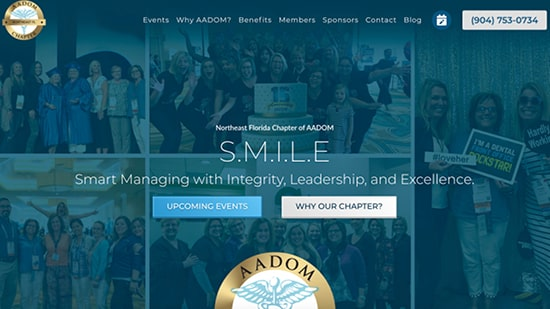 Preview image of Northeast Florida AADOM's new responsive website.