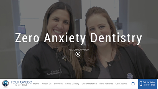 Preview image of Your Oviedo Dentist's new responsive dental website.