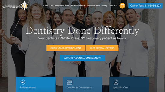 Preview image of Dental Group of Westchester's new responsive dental website.
