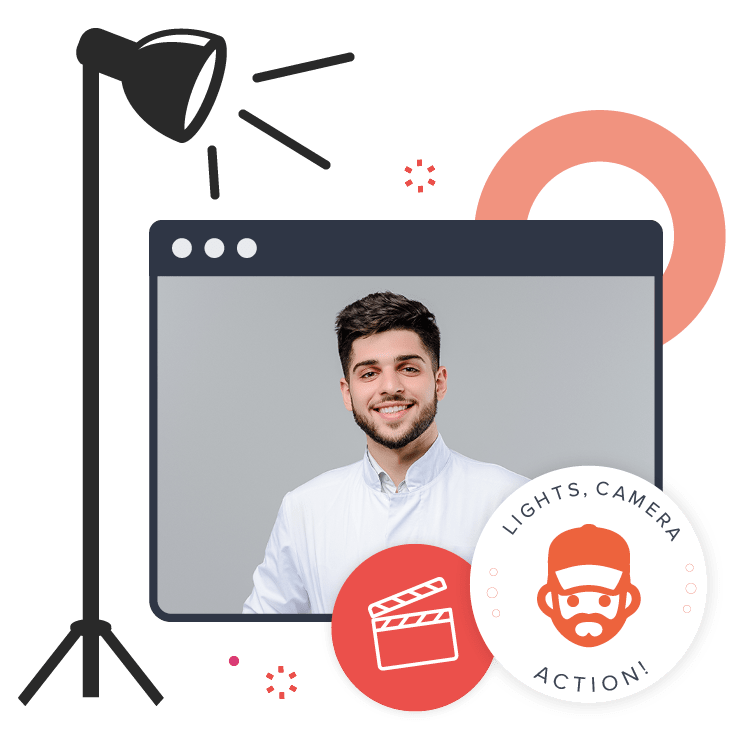 Dental patient video on a screen to represent custom marketing videos for dentists