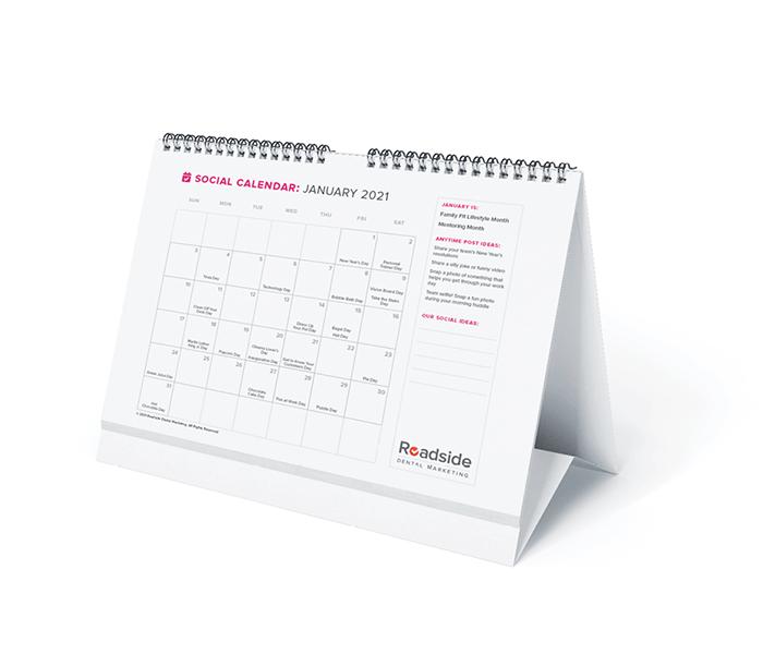 a desk calendar for 2021