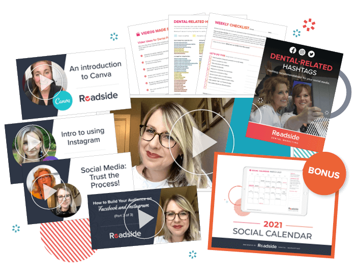 A graphic collage of our social media coaching