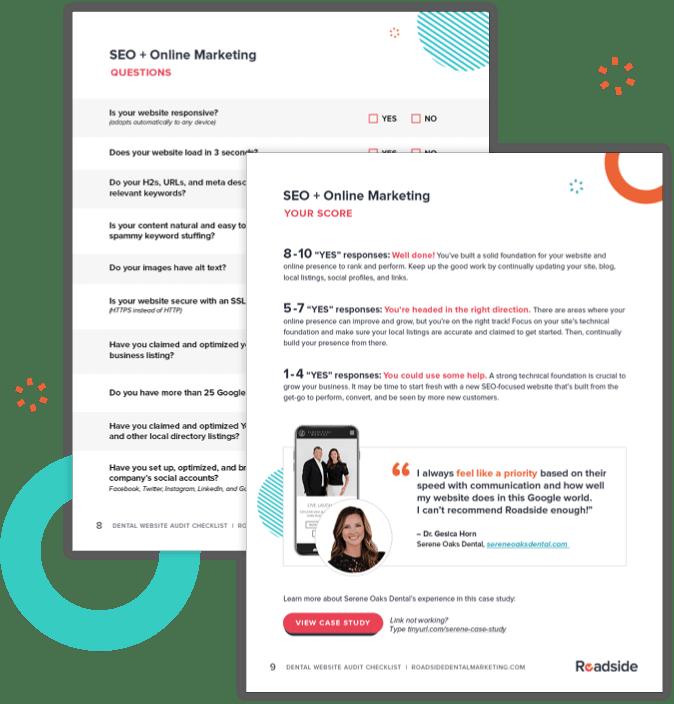 Dental Website Audit Checklist Page Preview