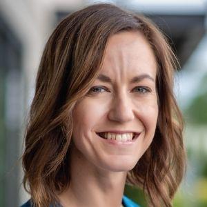Kristin Nistler in blue top