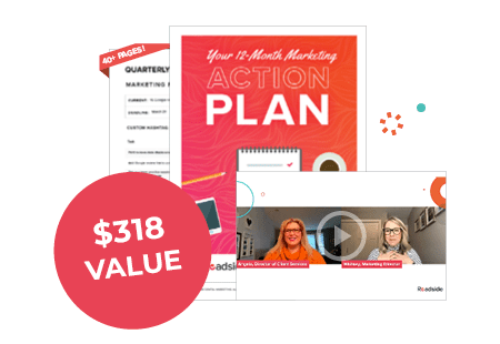 Preview of our marketing action plan workbook