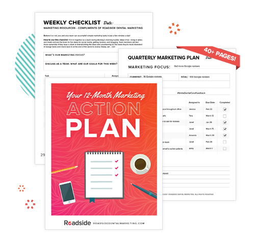 A web graphic of our 12-month Marketing Action Plan