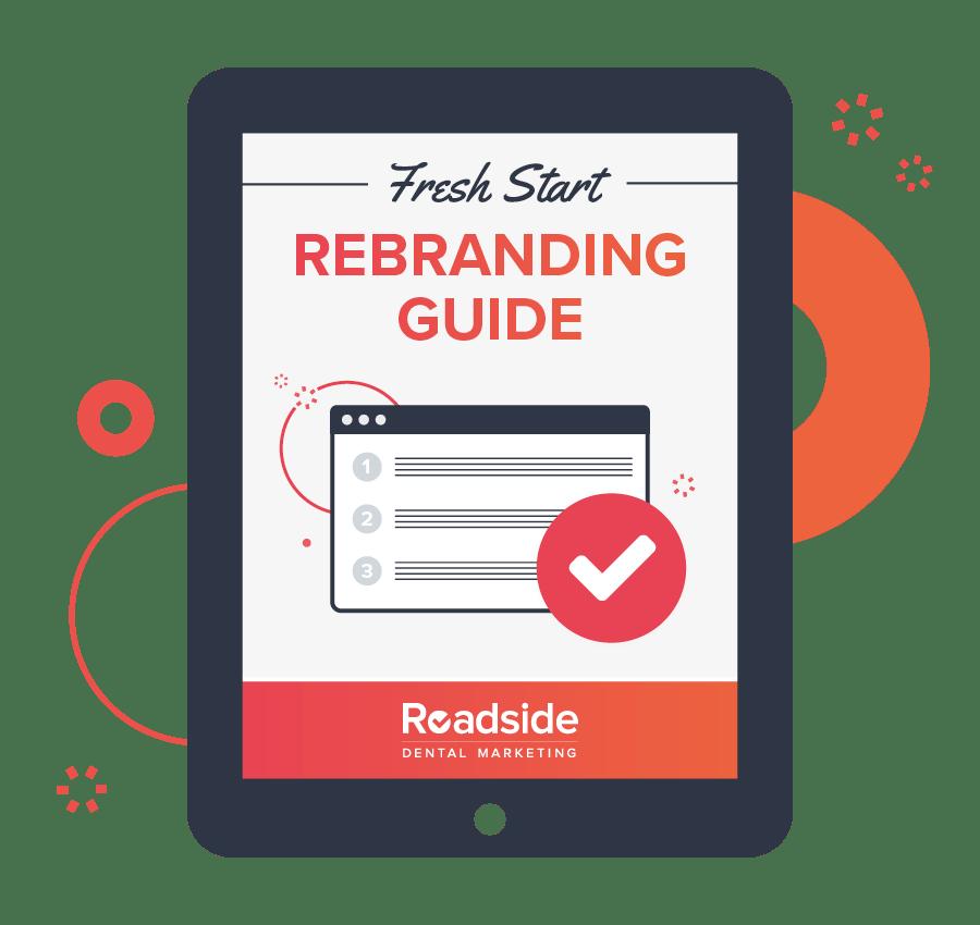 rebranding guide ebook displayed on a tablet