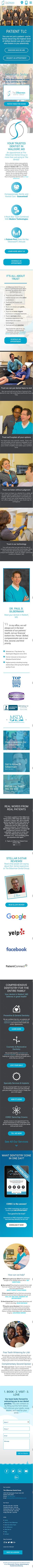 Silberman Dental Group new responsive dental website -mobile version
