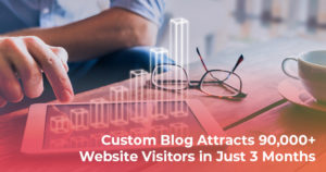 Custom blog attracts 90,000+ visits in just 3 months