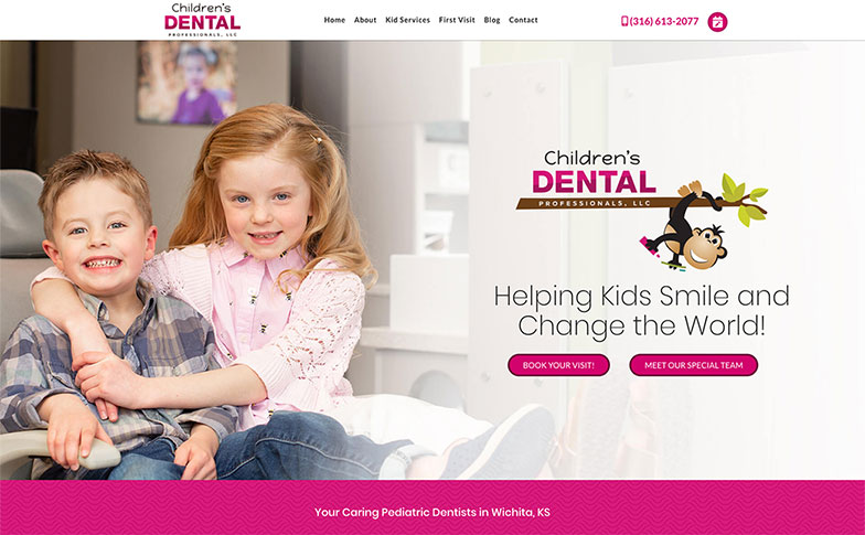 Preview of the Children's Dental Professionals new website