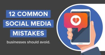 12 common social media mistakes businesses should avoid with a Instagram like heart broken in half