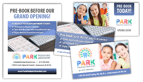 Image of DIY marketing materials to help promote campaign for Park Pediatric