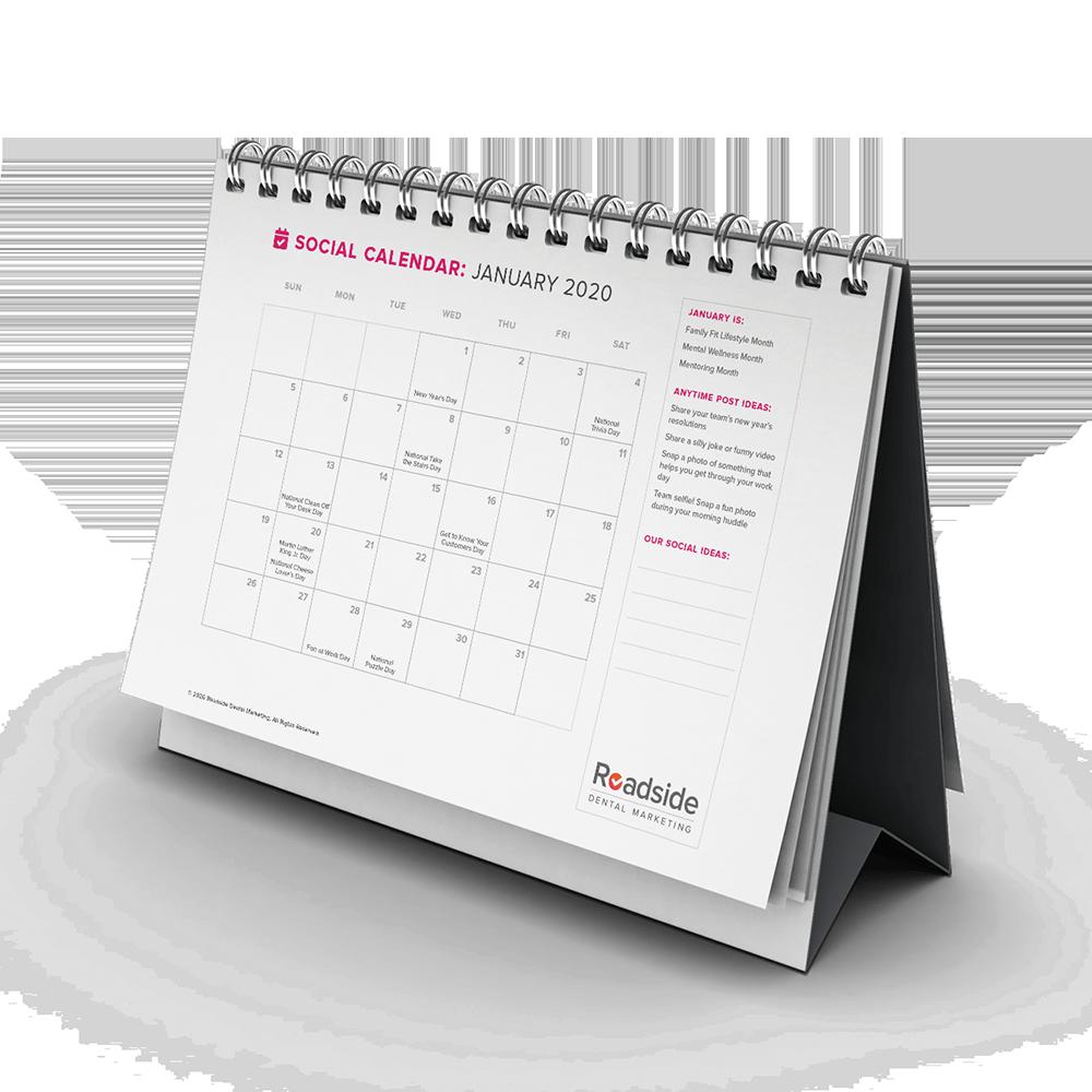 a desk calendar for 2020