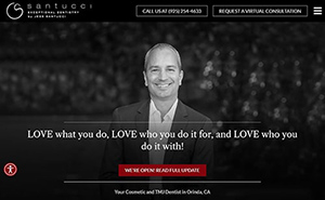 A preview of Jess Santucci DDS's new website's homepage