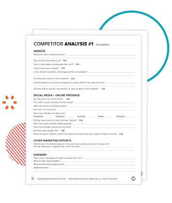 Sneak peek of our competitor analysis worksheet